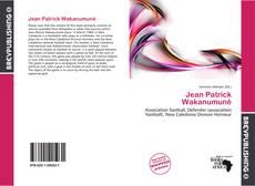 Capa do livro de Jean Patrick Wakanumuné