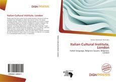 Bookcover of Italian Cultural Institute, London