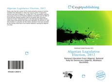 Bookcover of Algerian Legislative Election, 2012