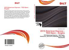 Capa do livro de 2010 American Express – TED Open – Singles