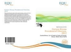 Portada del libro de Guinea-Bissau Presidential Election, 2012
