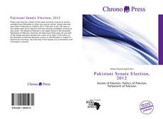 Capa do livro de Pakistani Senate Election, 2012