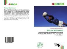 Portada del libro de Haidar Mahmoud