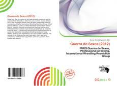 Capa do livro de Guerra de Sexos (2012)