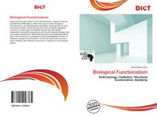 Bookcover of Biological Functionalism