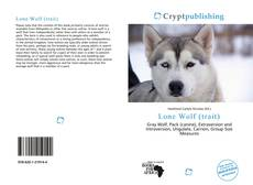 Bookcover of Lone Wolf (trait)