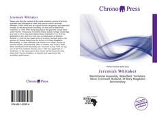 Bookcover of Jeremiah Whitaker