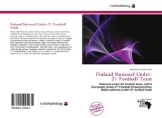 Bookcover of Finland National Under-21 Football Team