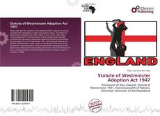 Capa do livro de Statute of Westminster Adoption Act 1947