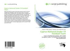 Bookcover of Cyprus National Under-19 Football Team