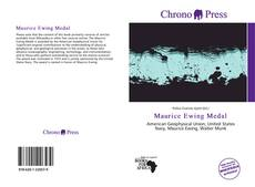 Bookcover of Maurice Ewing Medal