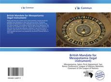 Bookcover of British Mandate for Mesopotamia (legal instrument)