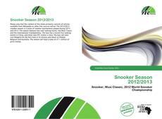 Portada del libro de Snooker Season 2012/2013