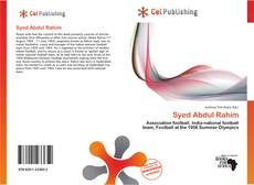 Bookcover of Syed Abdul Rahim
