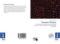 Bookcover of Thomas F Krauss
