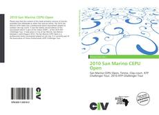 Bookcover of 2010 San Marino CEPU Open