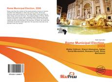 Buchcover von Rome Municipal Election, 2006