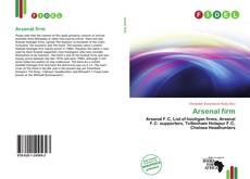 Arsenal firm kitap kapağı