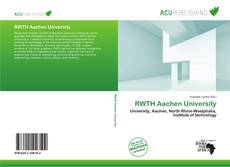 RWTH Aachen University kitap kapağı