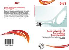 Portada del libro de Anna University of Technology, Tiruchirappalli