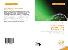 Обложка Jack Barnes (Australian Footballer)