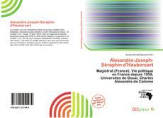 Couverture de Alexandre-Joseph-Séraphin d'Haubersart