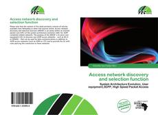 Bookcover of Access network discovery and selection function