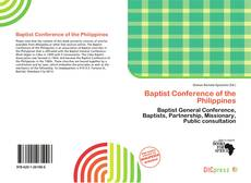 Bookcover of Baptist Conference of the Philippines