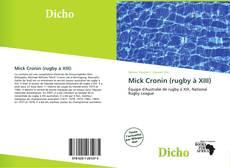 Portada del libro de Mick Cronin (rugby à XIII)