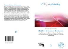 Couverture de Baptist Union of Romania