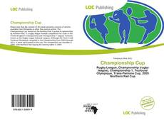 Bookcover of Championship Cup