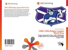 Обложка 1989–1992 Rugby League World Cup