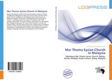 Bookcover of Mar Thoma Syrian Church in Malaysia