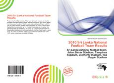 Bookcover of 2010 Sri Lanka National Football Team Results