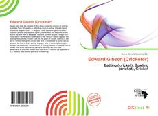 Portada del libro de Edward Gibson (Cricketer)