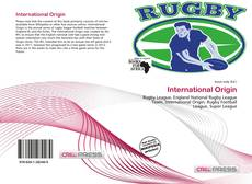 Couverture de International Origin