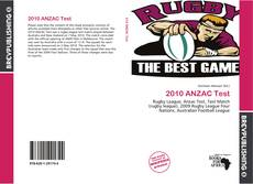 2010 ANZAC Test的封面