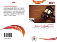 Couverture de Settlement Conference