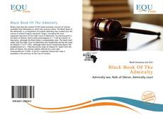 Couverture de Black Book Of The Admiralty