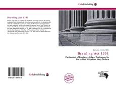 Bookcover of Brawling Act 1551