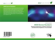 Обложка ANSI Device Numbers