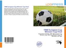 Bookcover of 1988 European Cup Winners' Cup Final