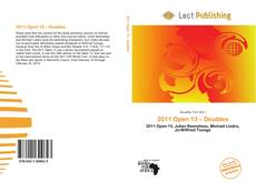 Buchcover von 2011 Open 13 – Doubles