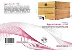 Bookcover of Apprentices Act 1536
