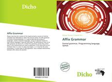 Bookcover of Affix Grammar