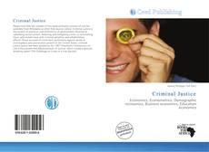 Portada del libro de Criminal Justice