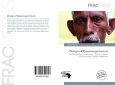 Couverture de Design of Quasi-experiments