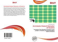 Buchcover von Archduke Hubert Salvator of Austria