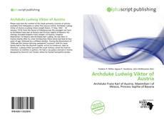 Buchcover von Archduke Ludwig Viktor of Austria