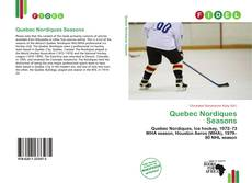Bookcover of Quebec Nordiques Seasons